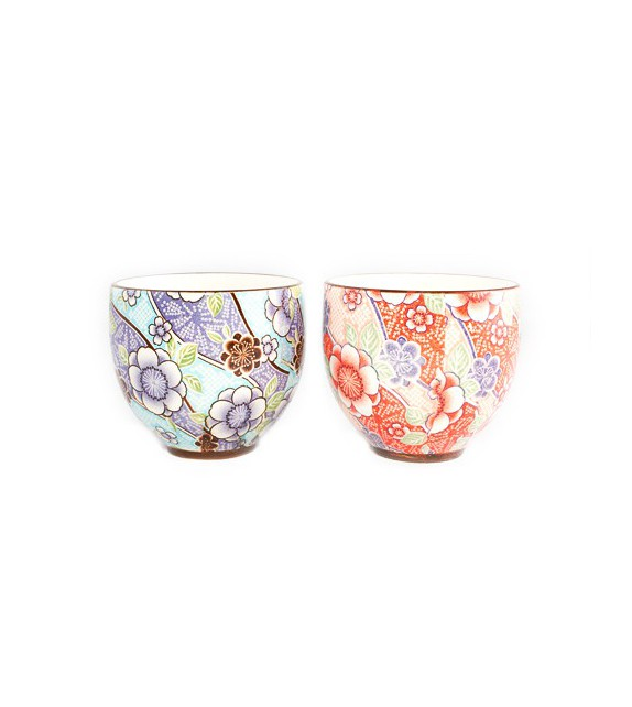 Set of 2 tea cups tsubaki