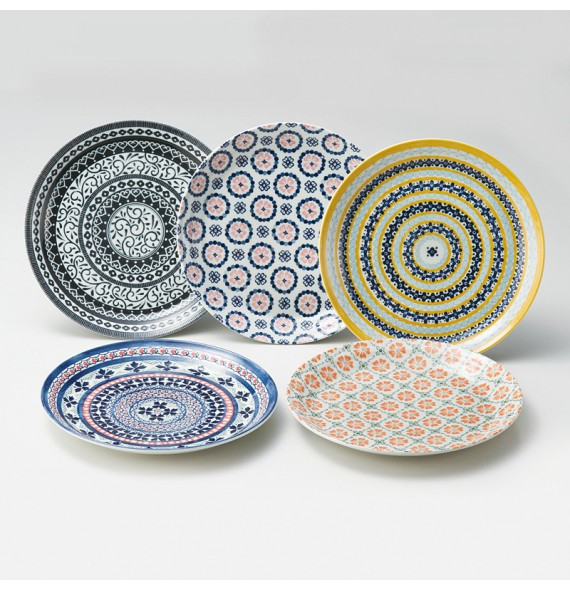 Set de 5 assiettes
