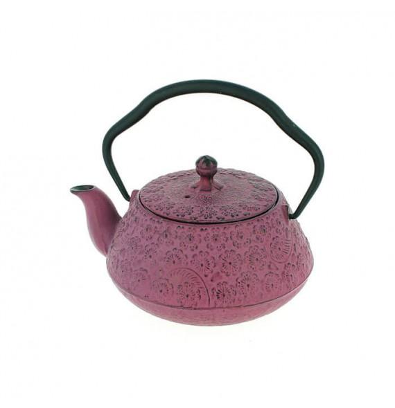 Teapot cast iron Japanese sakura