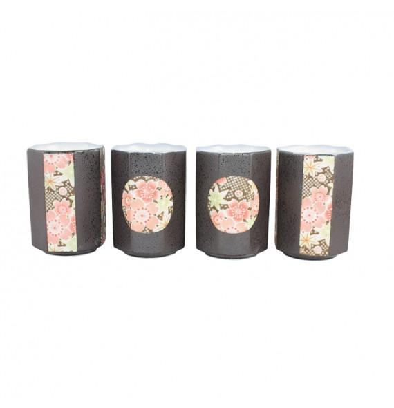 Set de 4 tasses hexagonale